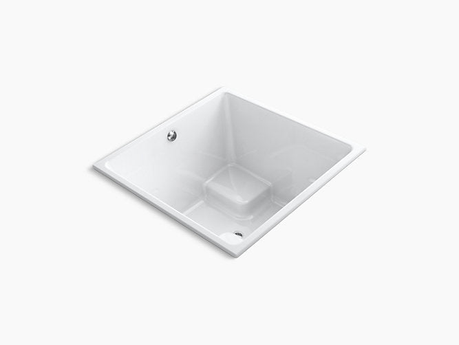 "Underscore® Cube48"" x 48"" drop-in bath with center drain"