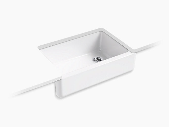 "Whitehaven®32-11/16"" x 21-9/16"" x 9-5/8"" Undermount single-bowl farmhouse sink"