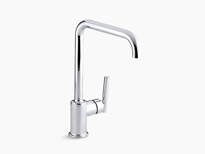 "Purist®single-hole kitchen sink faucet with 8"" spout"