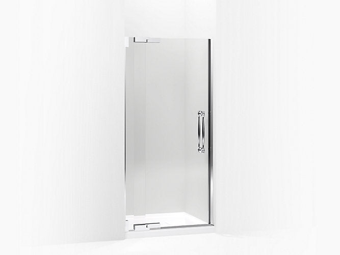 "Finial®Pivot shower door, 72-1/4"" H x 30-1/4 - 32-3/4"" W, with 1/2"" thick Crystal Clear glass"