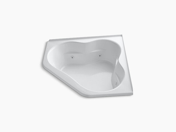 "Tercet®60"" x 60"" whirlpool with integral flange, center drain and heater"