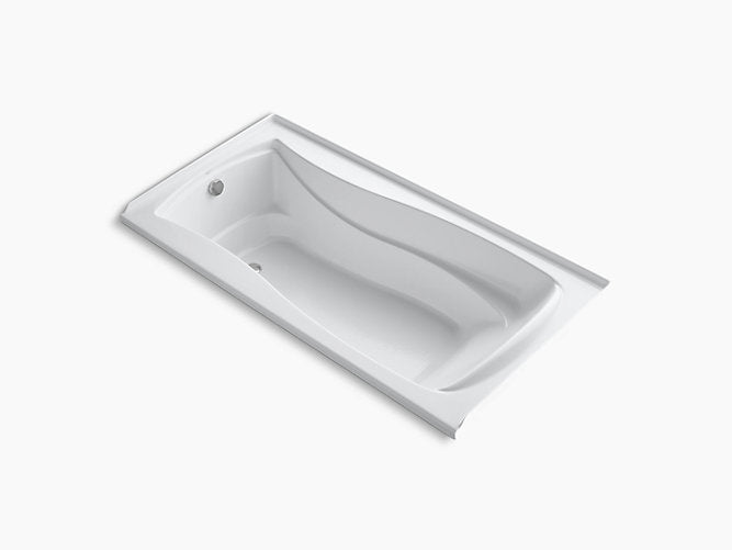 "Mariposa®72"" x 36"" alcove bath with Bask® heated surface and left-hand drain"