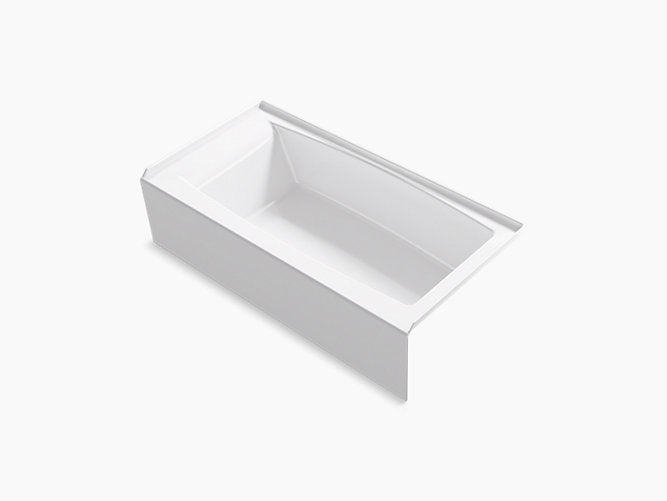 "Entity™60"" x 30"" alcove bath with integral apron, integral flange and right-hand drain"