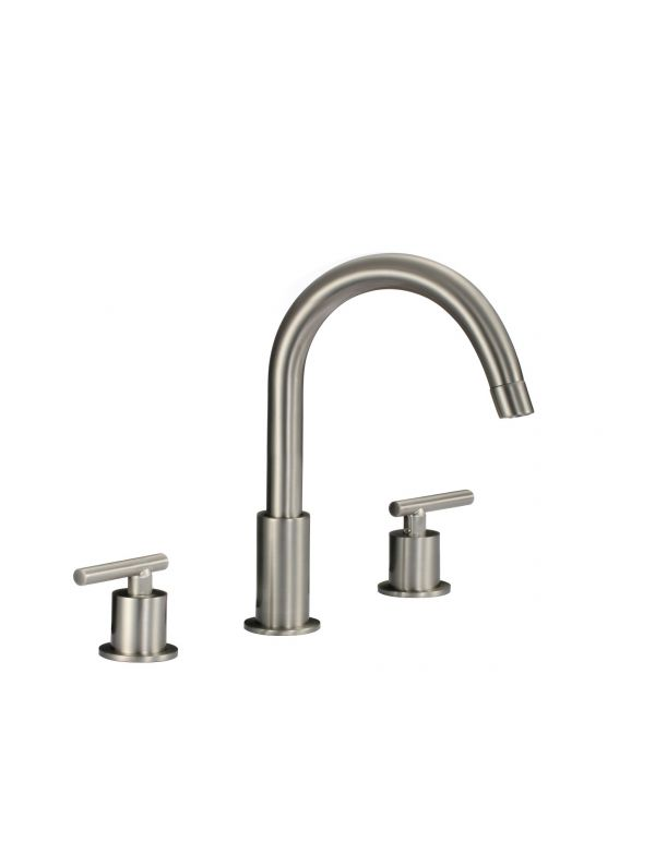 "RATEL 8"" WIDESPREAD 2-HANDLE BATHROOM FAUCET IN BRUSHED NICKEL"
