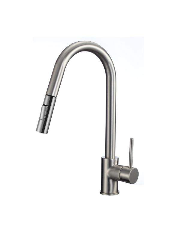 "RATEL PULL DOWN KITCHEN FAUCETS 10 1/16"" X 16 1/8"" BRUSHED NICKEL"