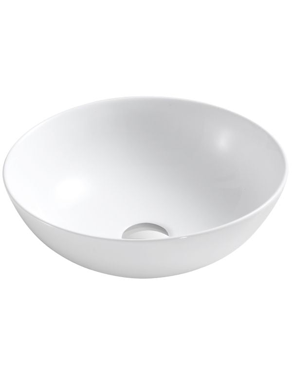"CERAMIC ROUND VESSEL SINK 15 1/2""D X 5 1/3""H"
