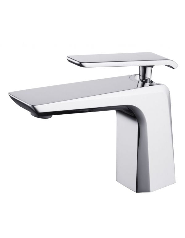"RATEL SINGLE HANDLE BATHROOM FAUCET 6 7/8"" X 5 3/4"" CHROME"