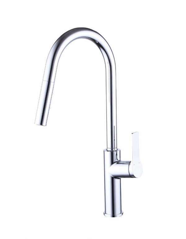 "RATEL PULL DOWN KITCHEN FAUCETS 10 11/16"" X 19 3/4"" BRUSHED NICKEL"