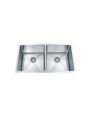 "DOUBLE HANDMADE SINK 50/50 16G 32""X19""X10"" R10MM"
