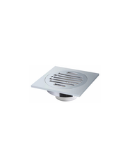 "QUARE SHOWER DRAIN 3 9/10""W X 3 9/10""D X 1 1/2""H BRUSH NICKEL"