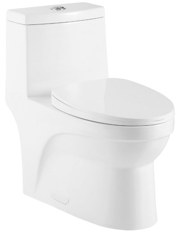 ONE PIECE OVAL TOILET WITH SOFT CLOSING SEAT AND DUAL FLUSH HEIGHT 27 4/5""