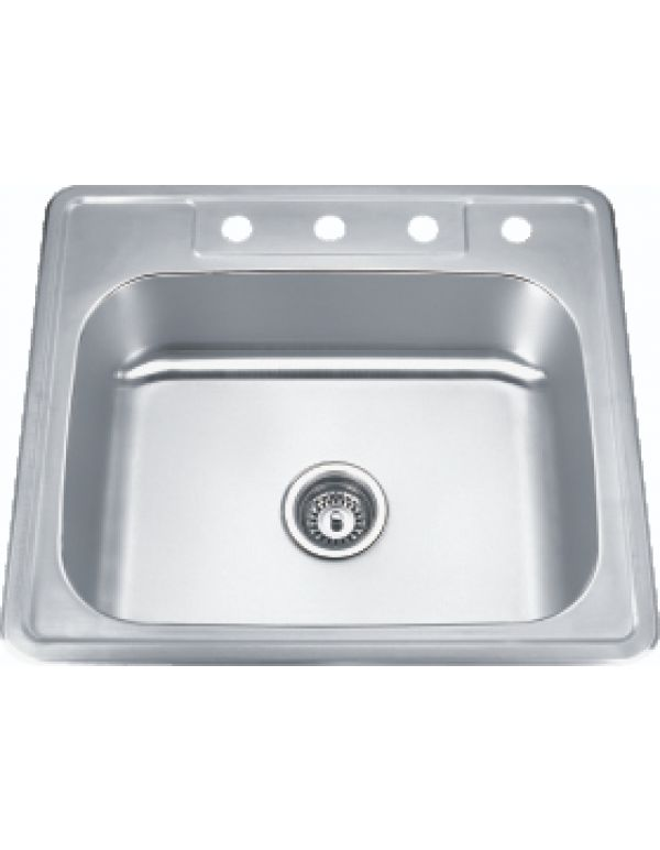 "SINGLE TOP-MOUNT SINK 20G 25""X22""X8"""