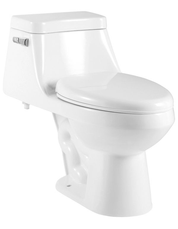 ONE PIECE OVAL TOILET WITH SOFT CLOSING SEAT HEIGHT 26""