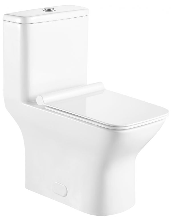 ONE PIECE SQUARE TOILET WITH SOFT CLOSING SEAT AND DUAL FLUSH HEIGHT 29 9/10""