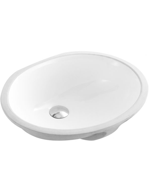 "CERAMIC OVAL UNDERMOUNT SINK 19 1/2""L X 16""W X 8 1/2""H Features"