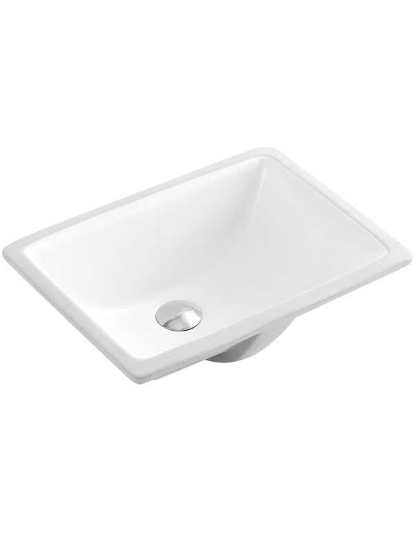 "CERAMIC SQUARE UNDERMOUNT SINK 18 1/3""L X 13 7/10""W X 7 4/5""H"