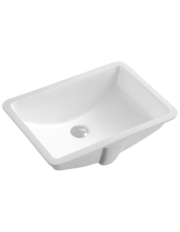 "CERAMIC SQUARE UNDERMOUNT SINK 20 7/8""L X 14 3/4""W X 8 3/8""H"