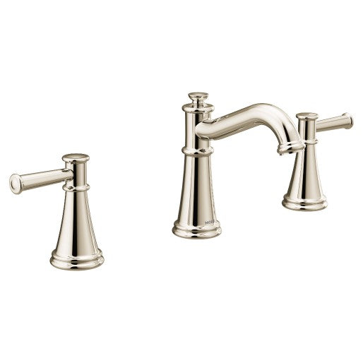 Belfield Polished Nickel Two-Handle High Arc Bathroom Faucet