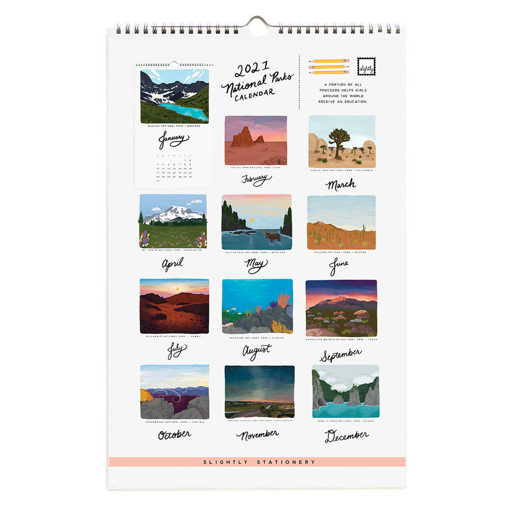 Slightly Imperfect 2021 National Parks Calendar