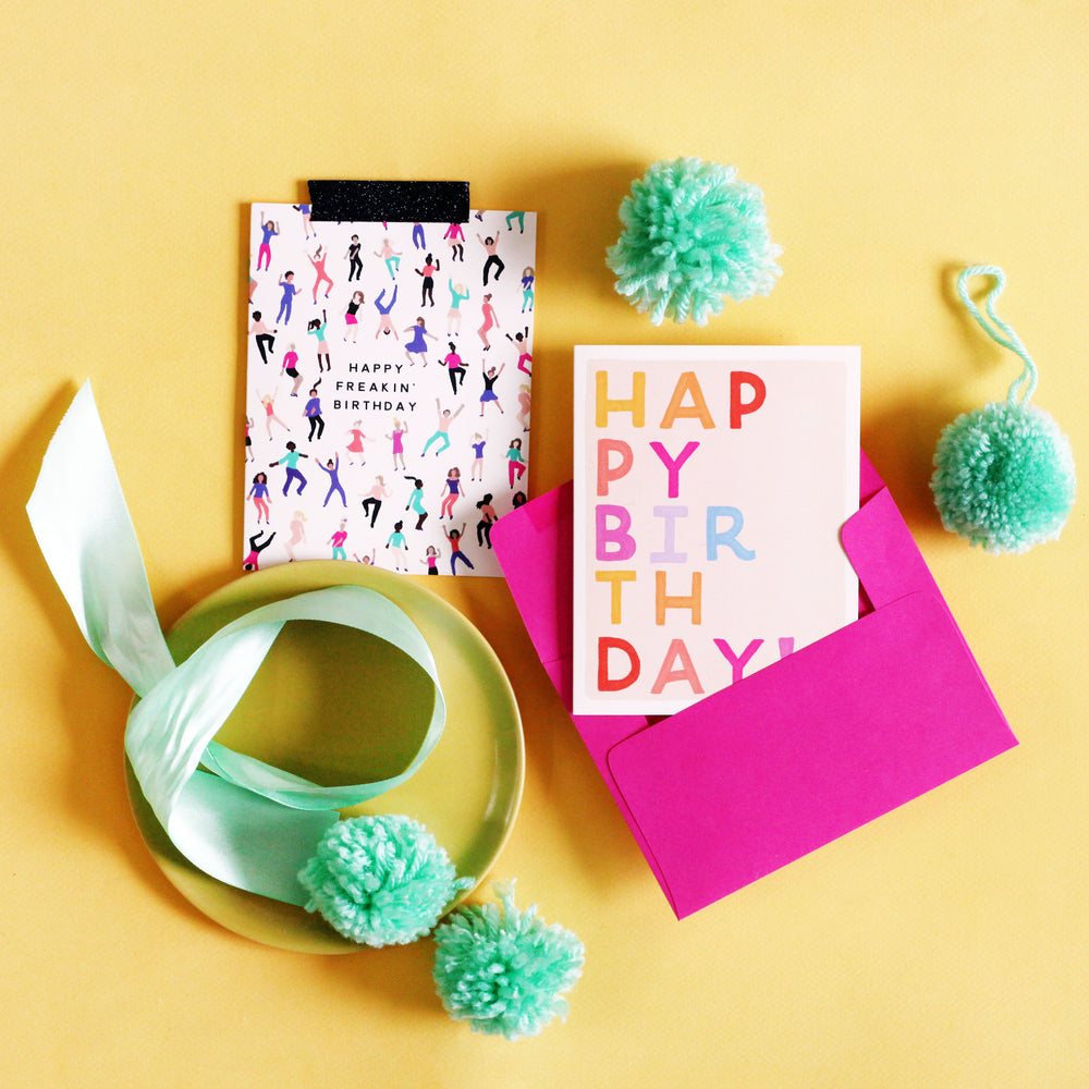 Birthday Block Letters