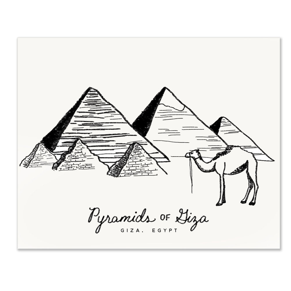 Pyramids of Giza | Art Print