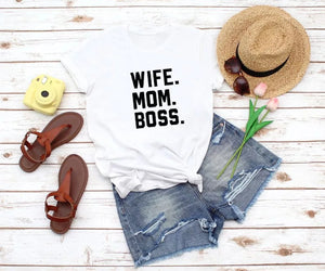 Camiseta estampada T-shirt Wife mom Boss