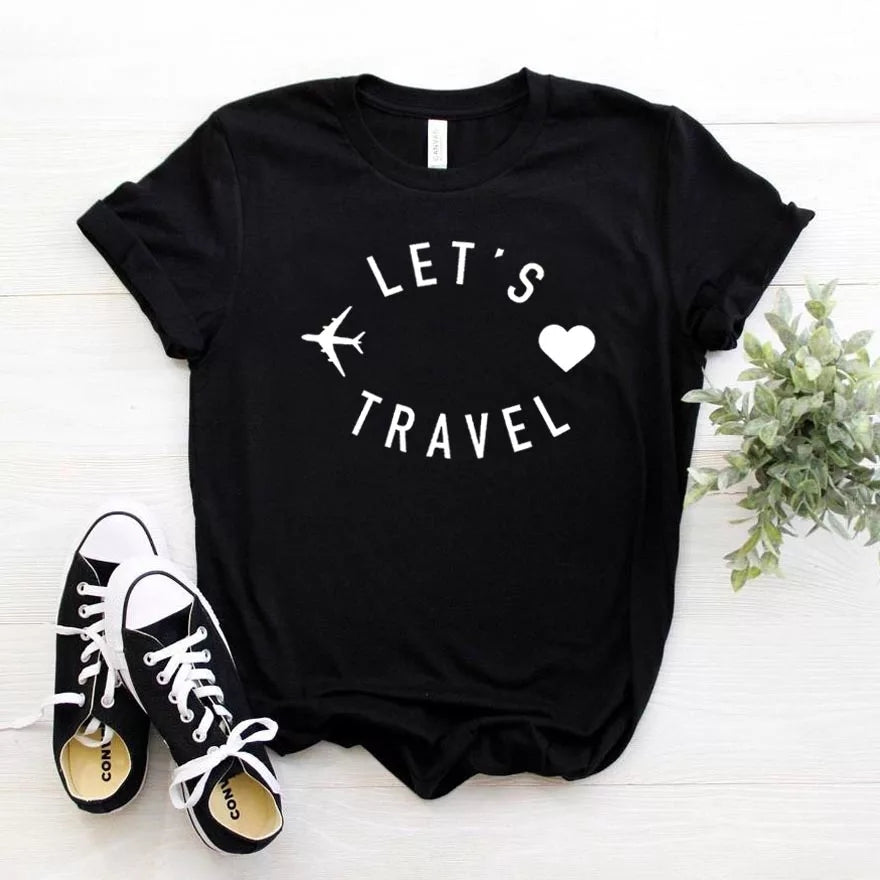 Camisa estampada tipo T-shirt Let's Travel