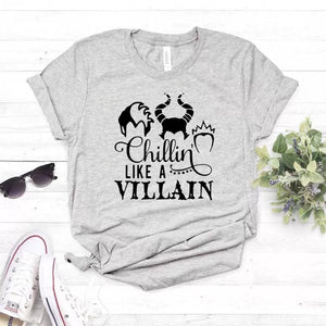 Camiseta estampada tipo T-shirt Chillin Like A Villain