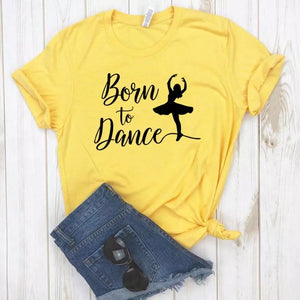 Camiseta estampada tipo T-shirt Born To Dance