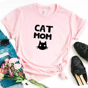 Camiseta estampada T-shirt Cat Mom
