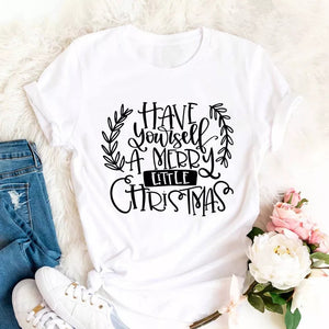 Camiseta estampada T-shirt Have yourself a merry little Christmas