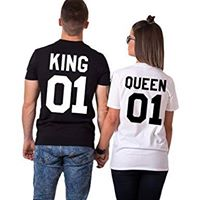 Camiseta estampada T-shirt de pareja King 01/ Queen 01
