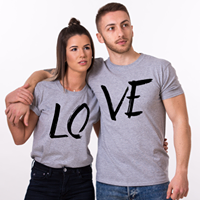 Camiseta estampada T-shirt Pareja Love