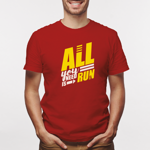 Camiseta estampada tipo T-shirt ALL YOU NEED IS RUN (FITNESS)