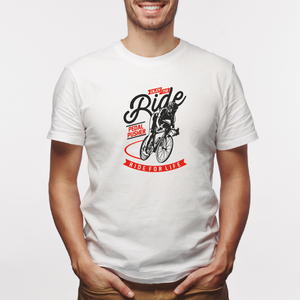 Camiseta estampada  tipo T-shirt ENJOY THE RIDE (CICLISTAS)