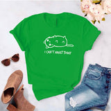 Camiseta estampada T-shirt Gatito Cant adult Today