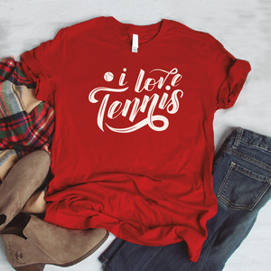Camiseta estampada tipo T-shirt I LOVE TENNIS (DEPORTES)