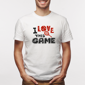 Camiseta estampada tipo T-shirt I LOVE THIS GAME (DEPORTES)