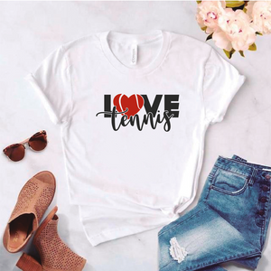 Camiseta estampada tipo T-shirt LOVE TENNIS (DEPORTES)