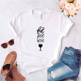 Camisa estampada tipo T- shirt But First Wine
