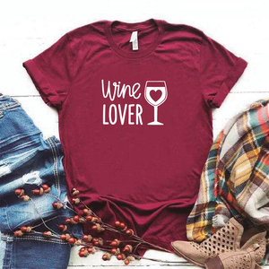 Camisa estampada tipo T- shirt Wine Lover