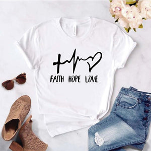 Camiseta estampada T-shirt Pulso corazón FAITH