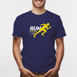 Camiseta estampada tipo T-shirt RUN ATHLETICS HOMBRE PREPARADO PARA CORRER (FITNESS)