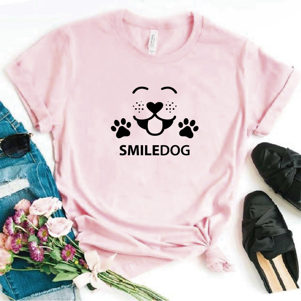 Camisa estampada  tipo T-shirt SMILE DOG