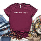Camiseta estampada T-shirt STATUS: HAPPY