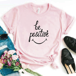 Camiseta estampada T-shirt Be Positive Sonrisa
