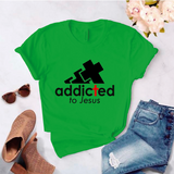 Camiseta estampada unisex T- Shirt Addicted to Jesus