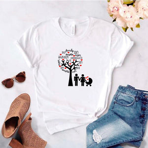 Camisa estampada tipo T- shirt Arbol Familiar