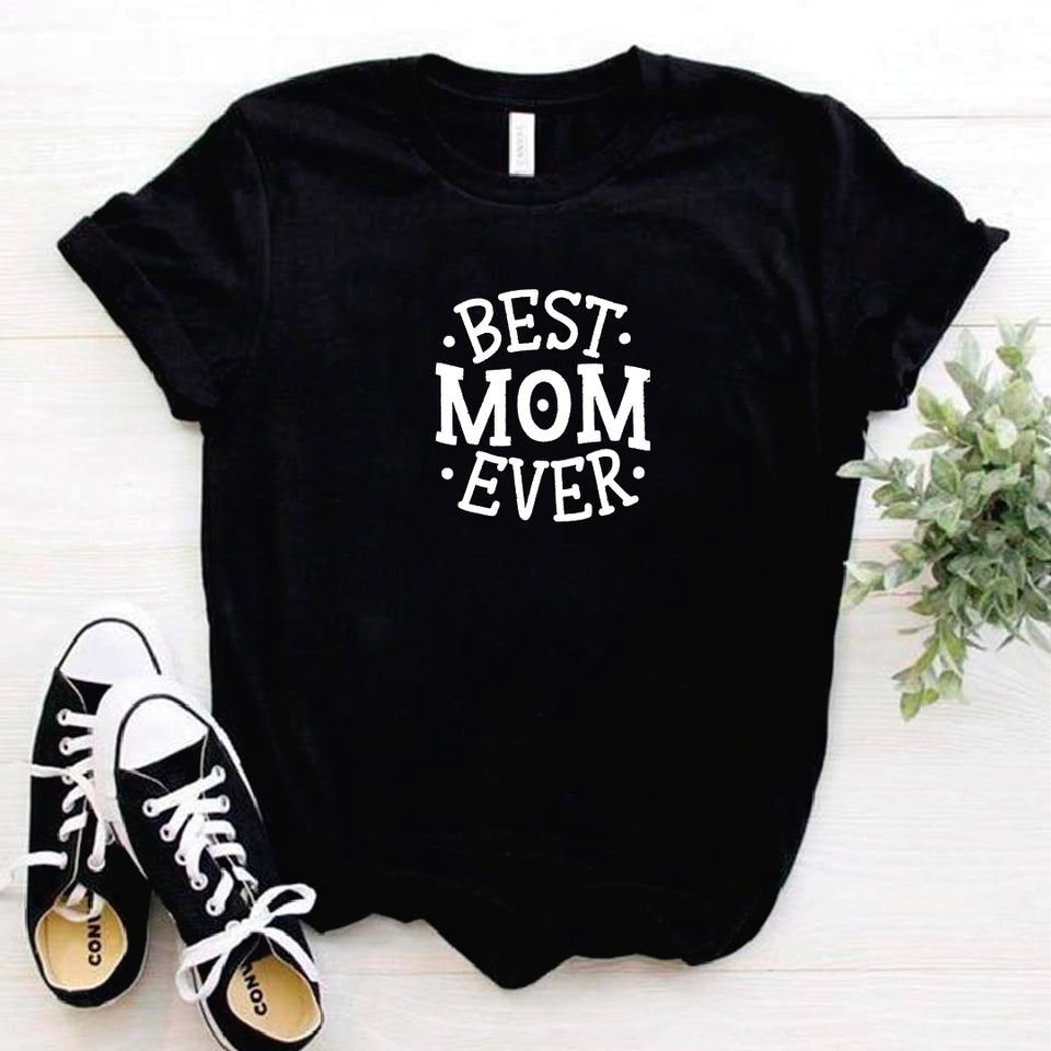 Camisa estampada tipo T- shirt Best mom ever