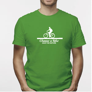 Camisa estampada para hombre  tipo T-shirt Chose a bike save the nature